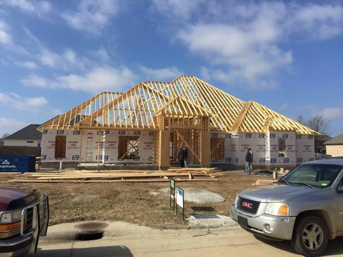 [Image: This house is in Kennett, Mo. It was almost ready for some decking in this picture. Call Infinite Building Concepts & Designs, LLC for all of you construction needs. ]